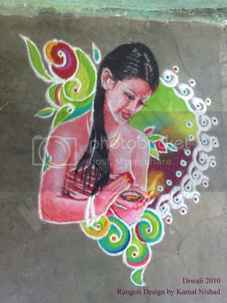 Diwali Rangoli_ by - Kamal Nishad