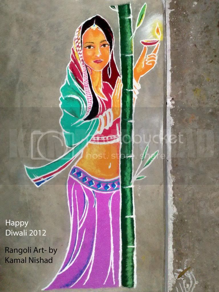 Rangoli Art Diwali 2012 by - Kamal Nishad